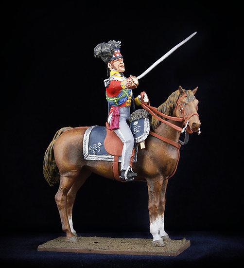Gordon highlanders officer on horse