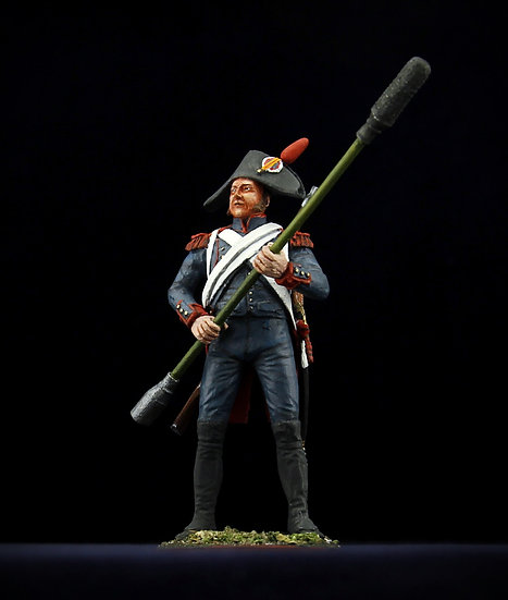 Revolutionnary artillery gunner with ramrod