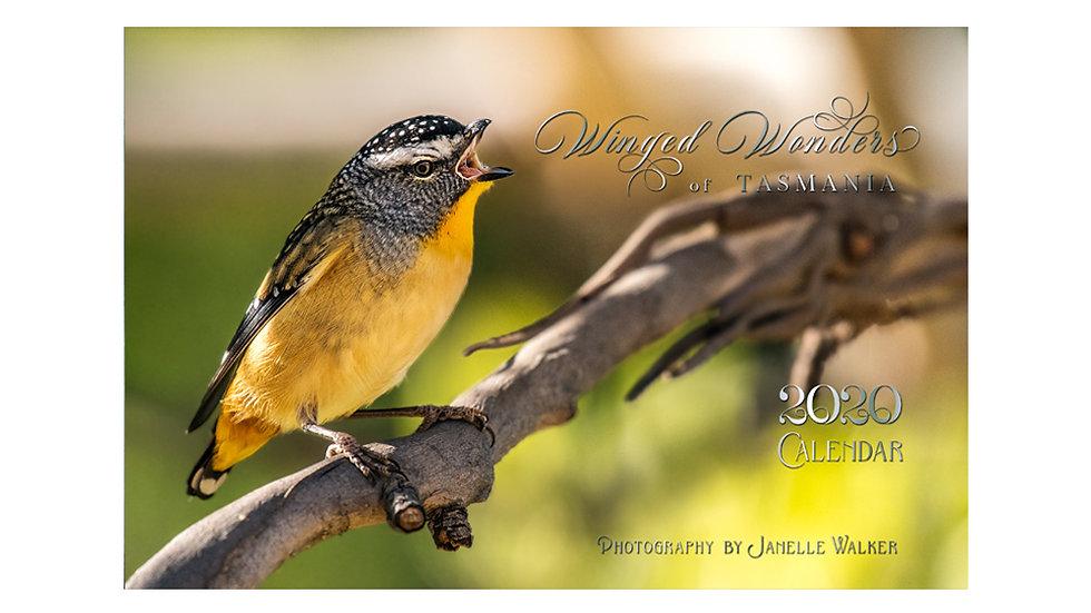 2020 Calendar - Winged Wonders of Tasmania