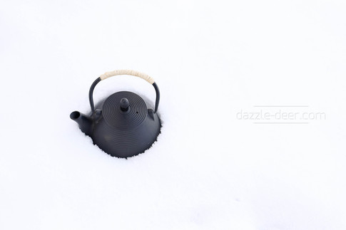 Teapot in the snow