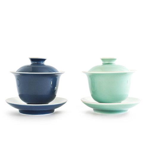 Gaiwan, Cyan | Dazzle Deer | Premium Chinese Tea & Teaware