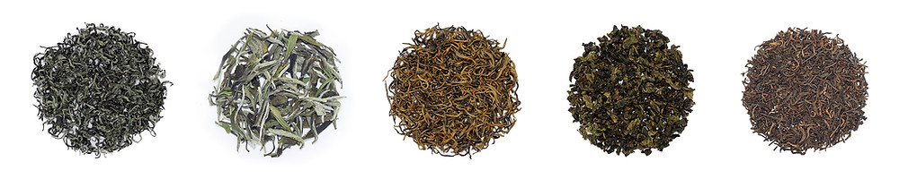 Types of Chinese Tea: Green Tea, White Tea, Yellow Tea, Black Tea, Oolong, Dark Tea (Puerh)