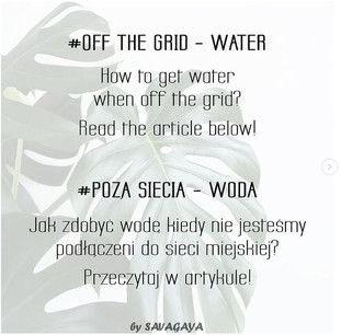 How to get water when off-grid?