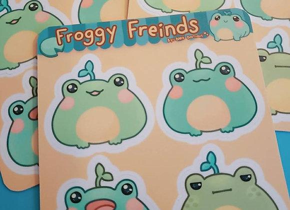 Froggy Friends Sticker Sheet