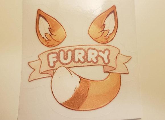 FURRY Sticker