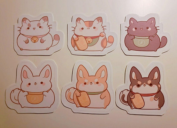 Maneki Lucky Friends Stickers