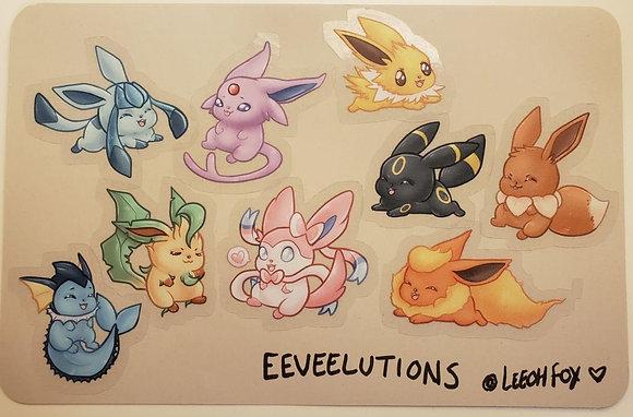 Eeveelutions Stickers