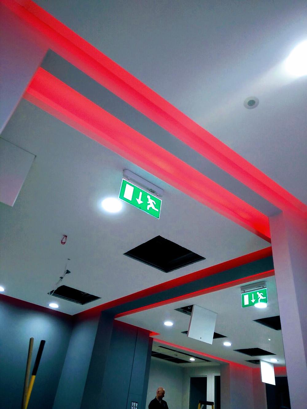 LED Lighting with emergency lighting