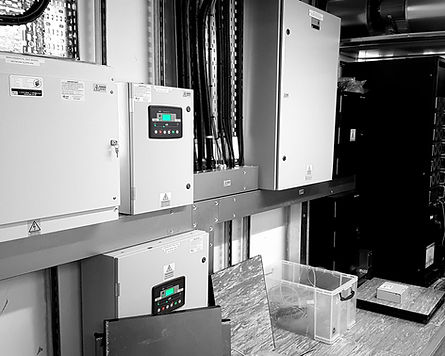 Distribution, auto mains fail panels and UPS system