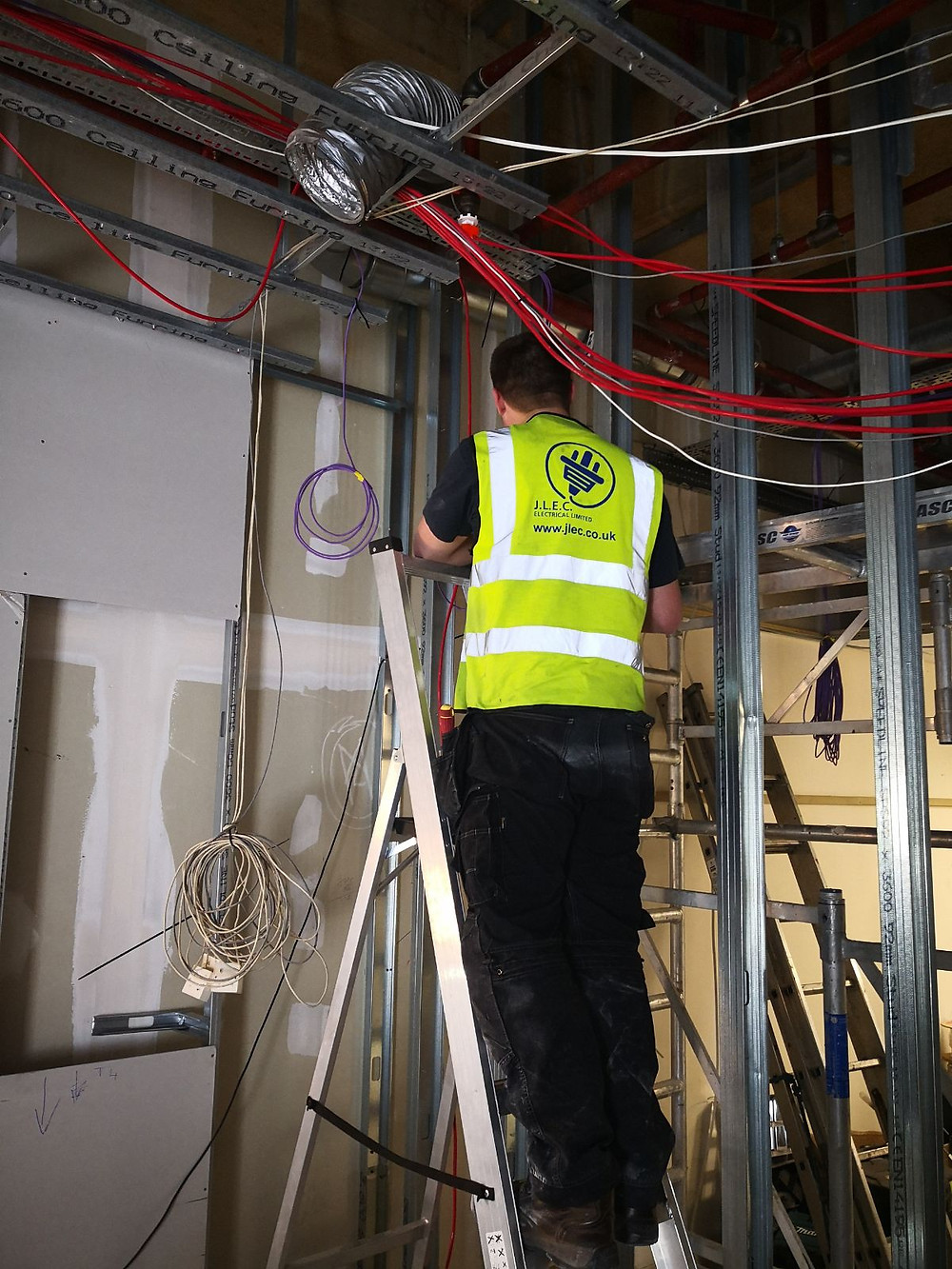 First Fix Being Carried Out