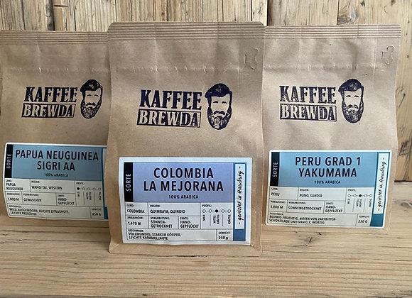 3er-Set speziell zum Kaffee-Kurs