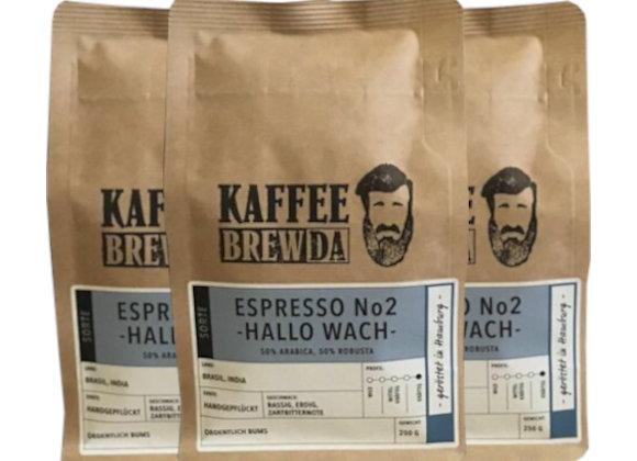 3er-Set Espresso No. 2 - Hallo Wach!