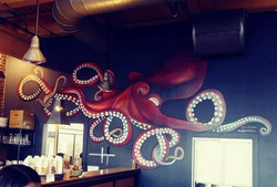 Quirky Octopus Mural for Taste Cafe