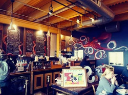 Taste Cafe Mural and Menu