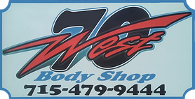 70 West Body Shop logo