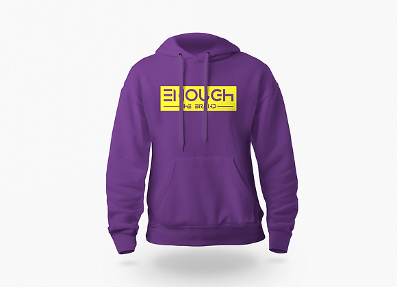 "Purple ""Enough"" Hoodie"