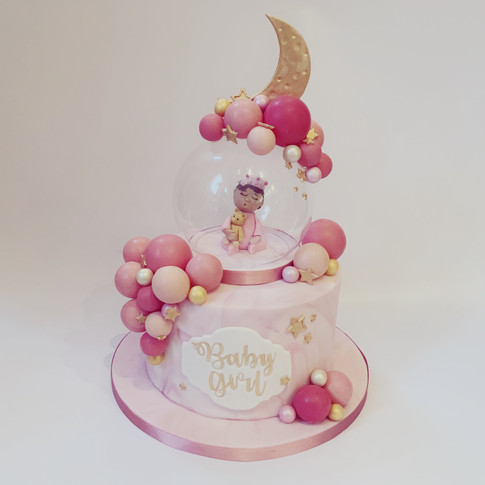 Magical moon baby shower cake