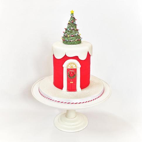 Christmas door cake