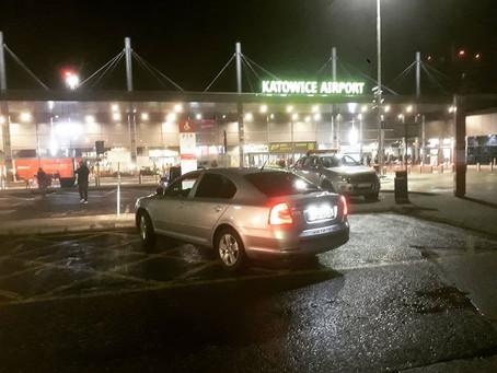 Další odvoz splněn ! Odvoz z Petřvaldu do Katowic na letiště.