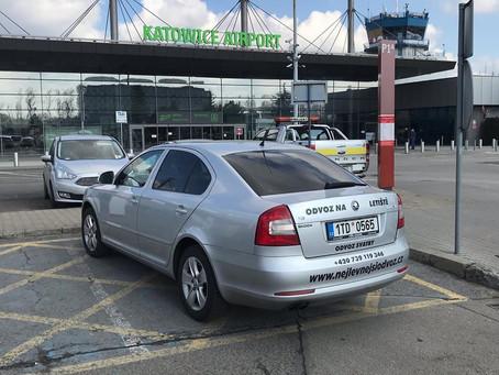 Krásný den, odvoz z Ostravy na letiště Katowice.
