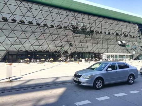 Včerejší odvoz naších klientů z letiště Krakow do Rychvaldu.