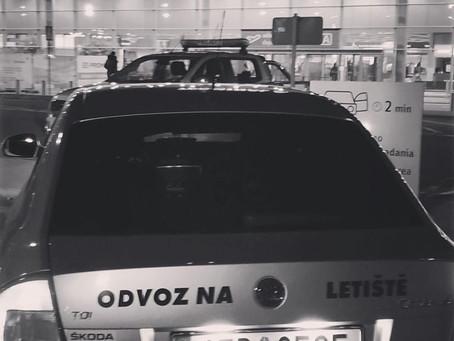 Krásný den, odvoz z Orlové na letiště Katowice.