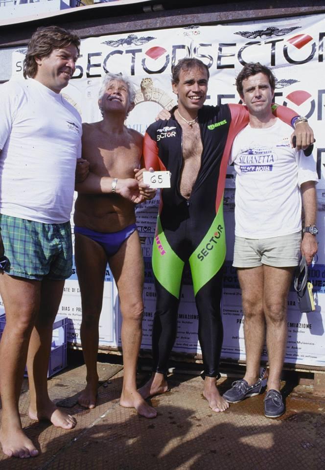 record di apnea profonda di Fernando Ferreras detto Pipìn 1990
