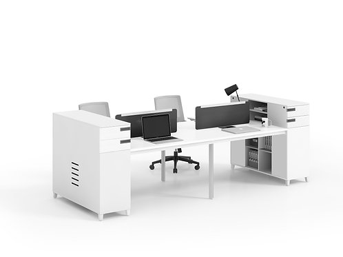 X-WC3212 4-seater Workstation