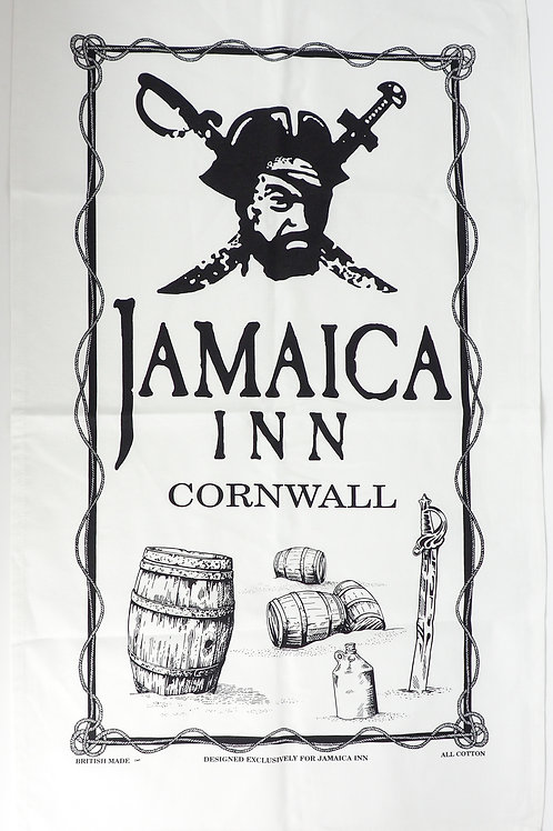 Jamaica Inn Barrels Logo Tea Towel