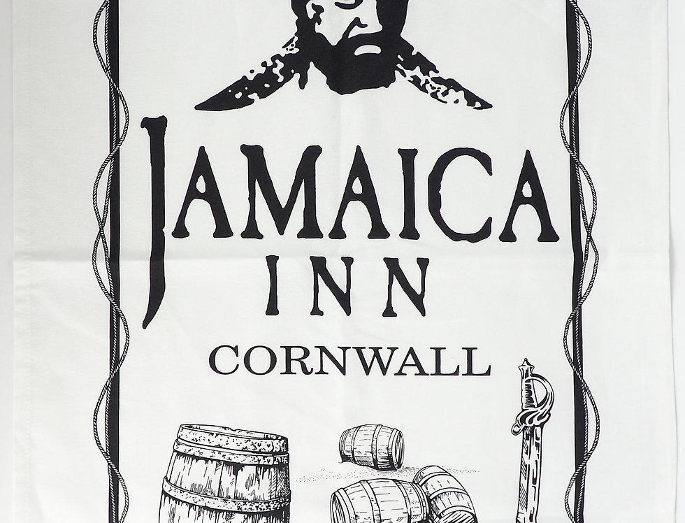 Jamaica Inn Barrels Logo Tea Towel