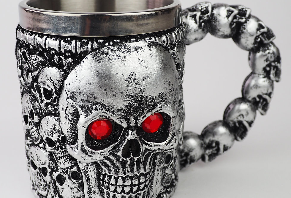 Metallic Multi Skull Mug