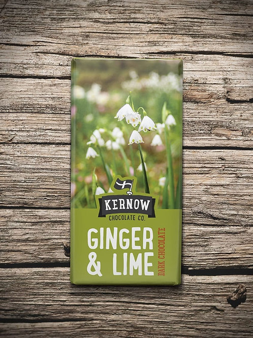 Kernow Dark Chocolate, Ginger & Lime