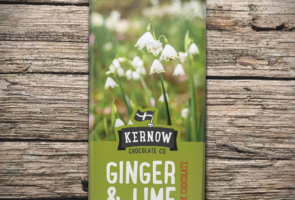 Kernow Dark Chocolate, Ginger & Lime