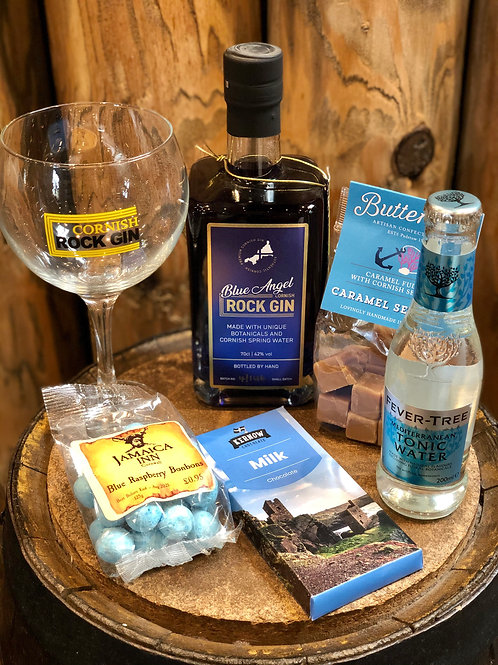 Cornish Rock Blue Gin Set