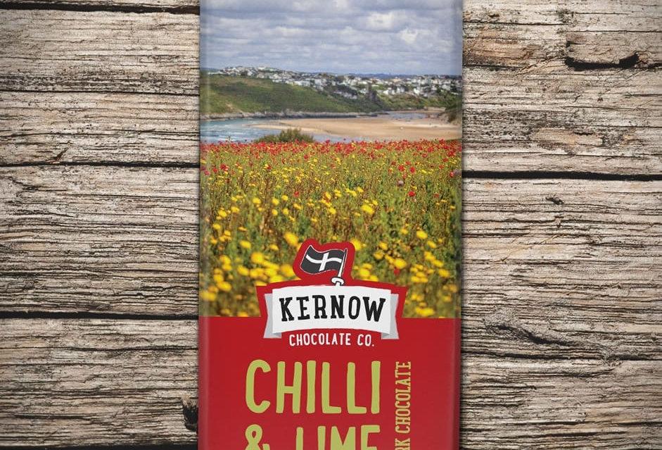 Kernow Dark Chocolate, Chilli & Lime