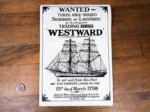 Able Bodied Seamen Wanted Poster