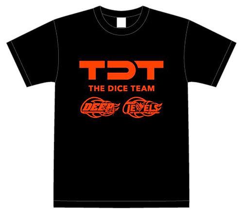 TDT × DEEP&DEEP JEWELSコラボTシャツ(出場選手のサイン入り)(赤)