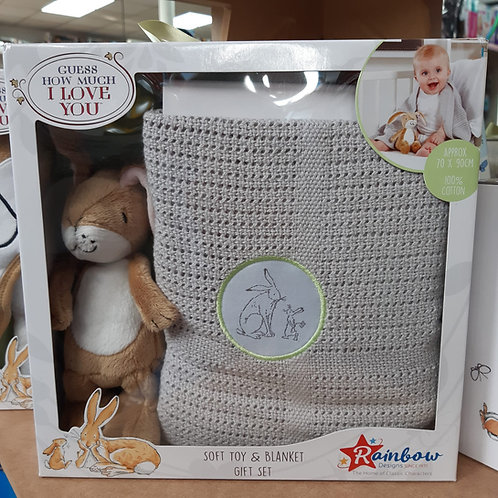 Guess How Much I Love You - Soft Toy & Blanket