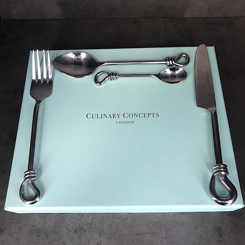 Polished Knot 24 Piece Cutlery Set