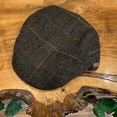 Peak Hat - Brown Herringbone