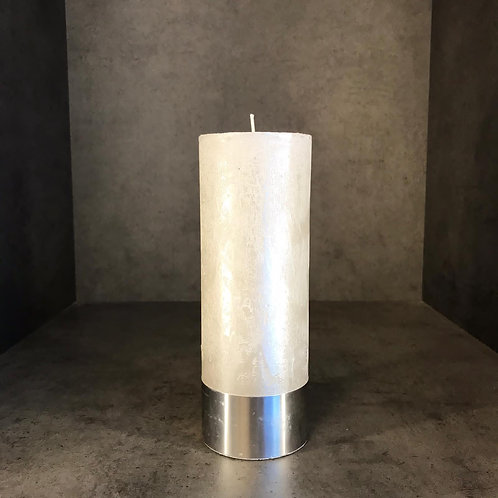 Pearl Rustica Pillar Candle