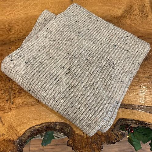 100% Wool Scarf - Cream