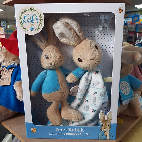 Peter Rabbit Rattle & Comforter Gift Set
