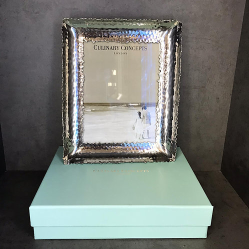 "Large Champagne Hammered Photo Frame 6""x 8"""