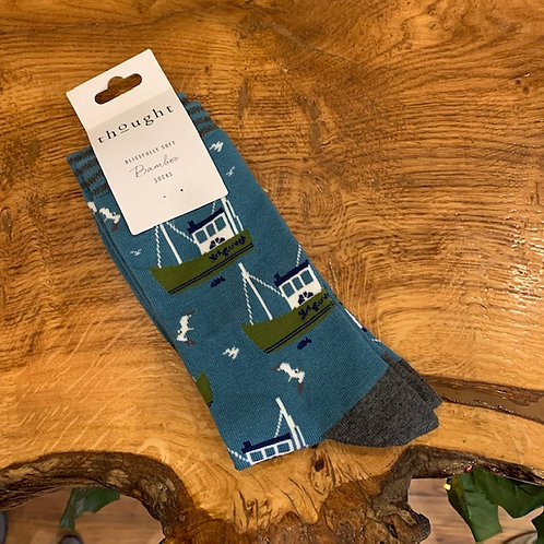 Thought Bamboo Socks - Boat