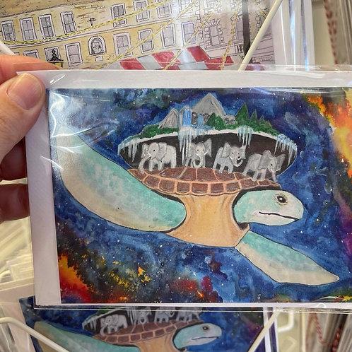 by Tonya - Printed Card - Turtle