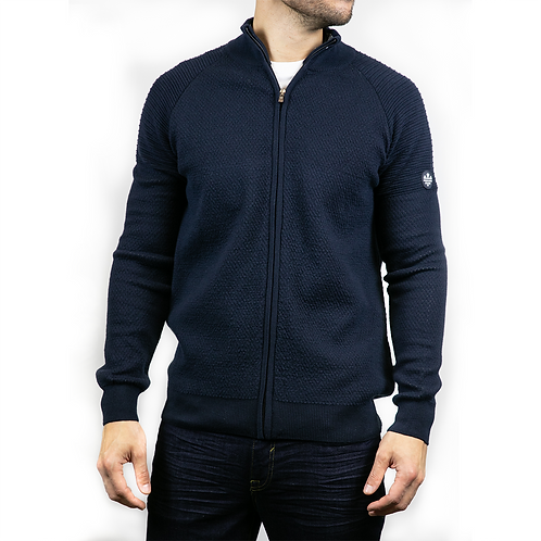 Oregon knitted cardigan - navy