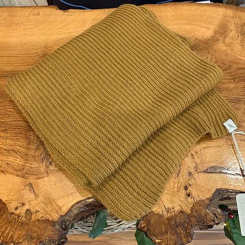 100% Wool Scarf - Mustard