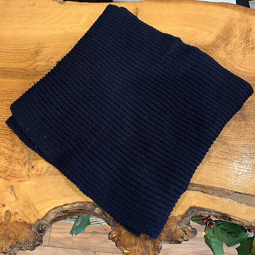 100% Wool Scarf - Navy