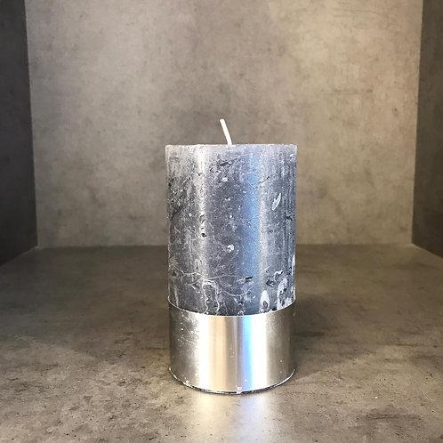 Dark Grey Rustica Pillar Candle